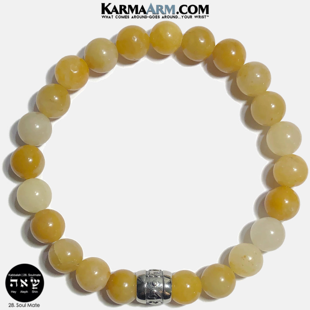 Kabbalah 23 Soul Mate Soulmate Shin Aleph Hey Meditation Mantra Yoga Bracelets. Self Care Wellness Wristband Jewelry. Yellow Aventurine. copy 14