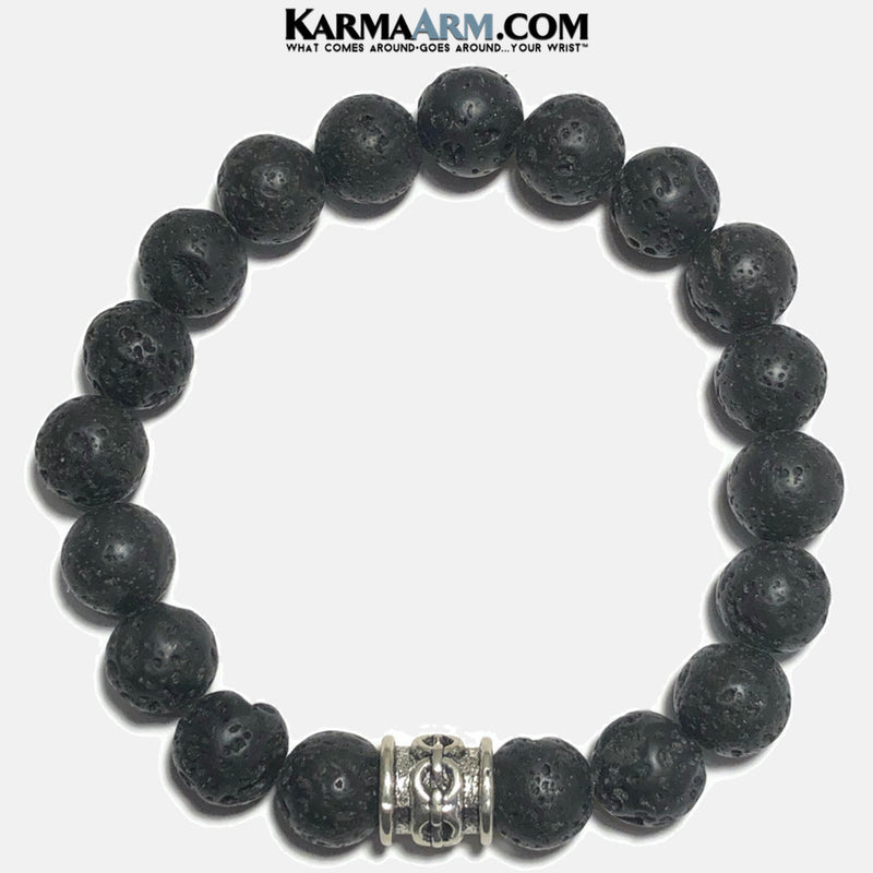 Lava Chain Link Mens Yoga Bracelet. Self-Care Wellness Wristband Chainlink.