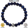 Lotus Meditation Wellness Yoga Bracelets. Mens Wristband Jewelry.  Blue Tiger eye.