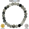Meditation Mantra Yoga Bracelet. Self-Care Wellness Wristband Tourmaline Quartz.  Lotus