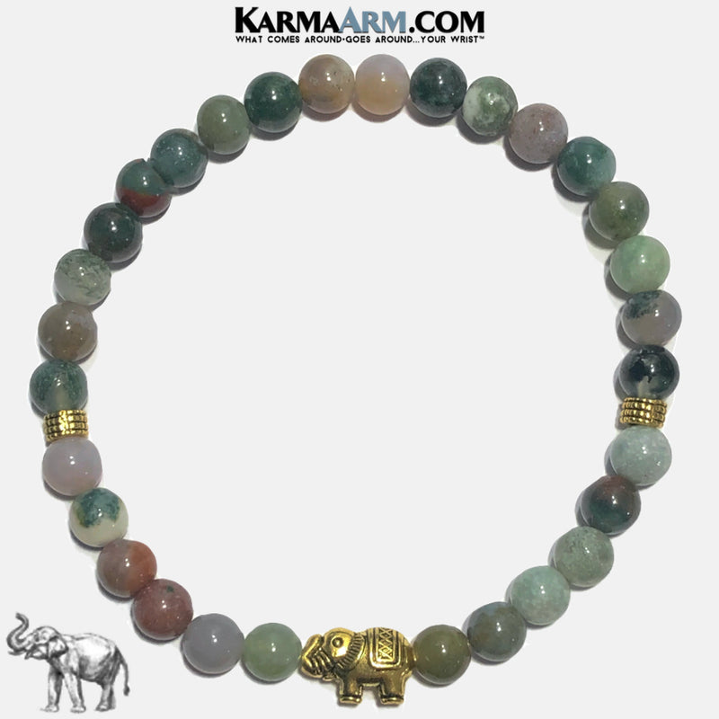 GOOD LUCK | India Agate | Lucky Elephant Bracelet