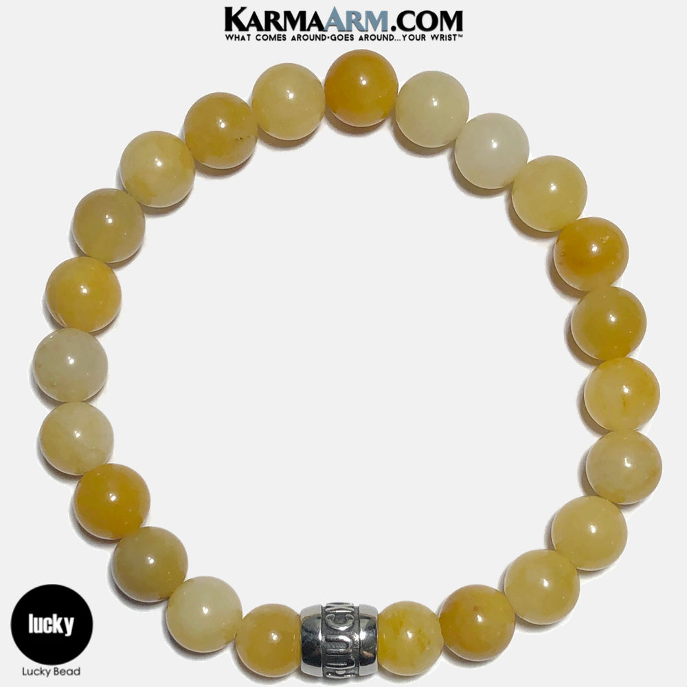 Lucky Meditation Mantra Yoga Bracelets. Self-Care Wellness Wristband Jewelry. Yellow Aventurine. copy 7