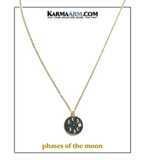 Lunar Moon Phases Necklace. Love Meditation Wellness Yoga Bracelets. Womens Jewelry.