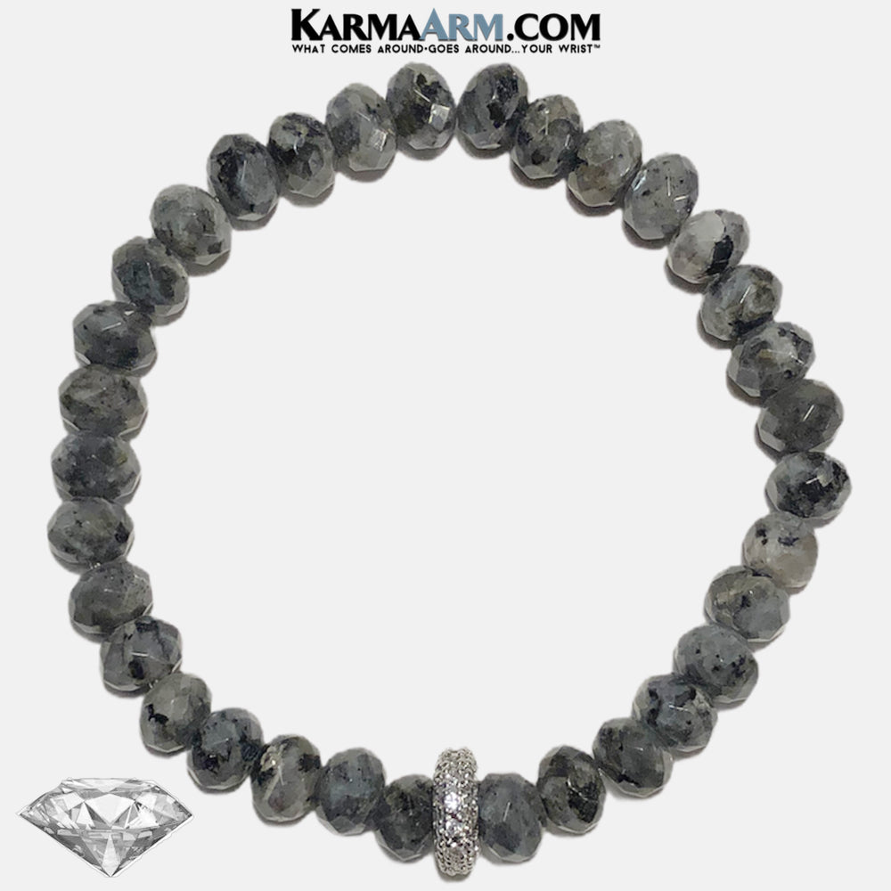 Meditation Mantra Self-Care Wellness Yoga Bracelets. Mens Wristband Jewelry. Black Labradorite. copy