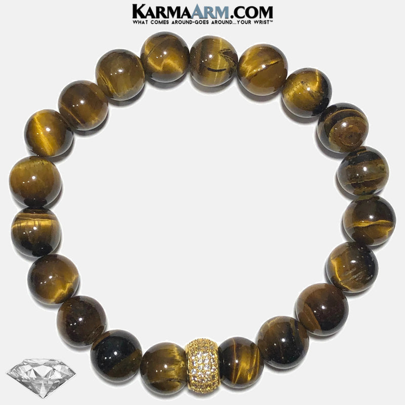 Meditation Mantra Yoga Bracelets. Mens Wristband Jewelry. Tiger Eye.