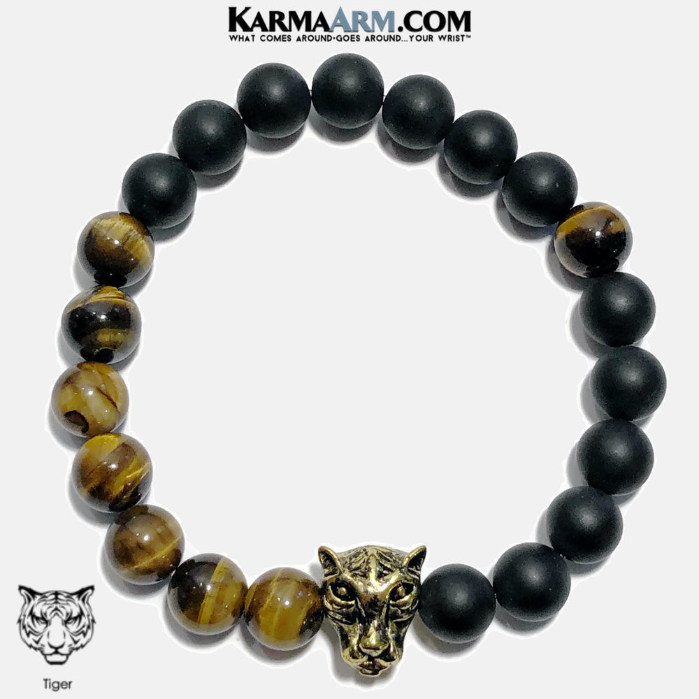 Meditation Mantra Yoga Bracelets. Mens Wristband Jewelry. Tiger Eye Onyx Hematite. copy