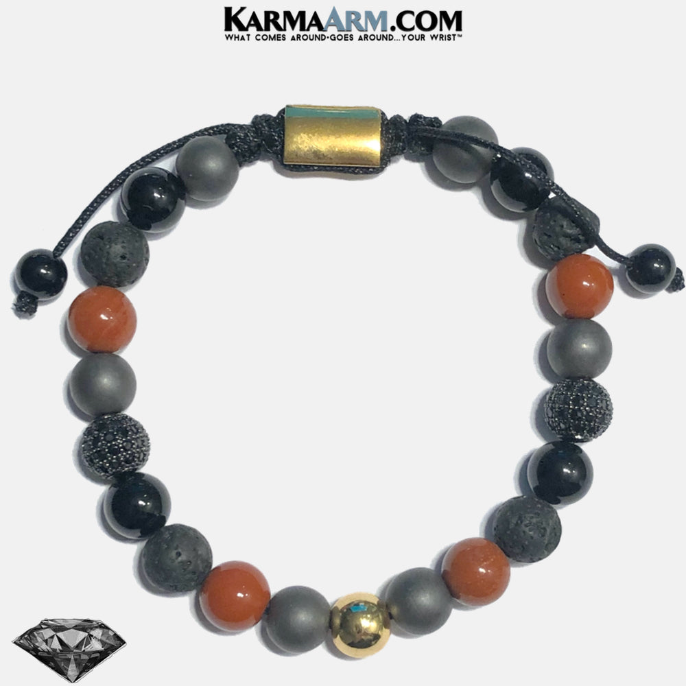 Meditation Mindfulness Yoga Bracelets. Self-Care Wellness Wristband Jewelry. Red Jasper. copy