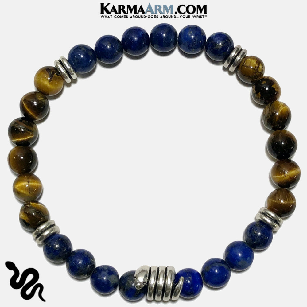 Meditation Self-Care Wellness Mantra Yoga Bracelets. Mens Wristband Jewelry. Lapis.  copy