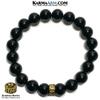 Meditation Mantra Yoga Bracelet. Meditation Self-Care Wellness Wristband Zen bead mala Jewelry. Black Onyx 10mm. copy