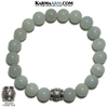 Yoga bracelet. Meditation self-care wellness mens bead wristband jewelry. 10mm blue amazonite Om mani padme hum. copy