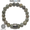 Meditation Mantra Yoga Bracelets. Mens Wristband Jewelry. Labradorite.