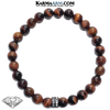 Diamond Meditation Mantra Yoga Bracelets. Mens Wristband Jewelry. Red Tiger Eye .
