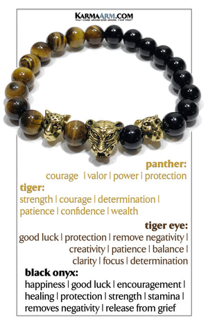 Custom / Bespoke | Tiger Eye | Black Onyx | TIGER | PANTHER Bracelet