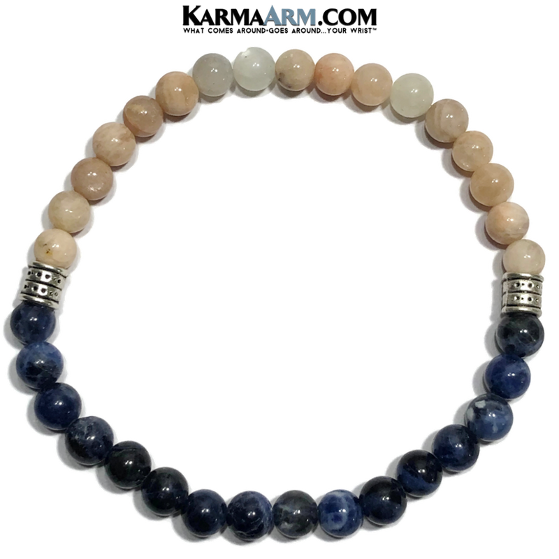 Meditation Mens Bracelet. Self-Care Wellness Wristband Yoga Jewelry. Sunstone.