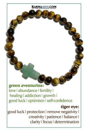 Meditation Mindfullness Yoga Bracelets. Self-Care Wellness Wristband Jewelry. Green Aventurine. Tiger Eye. c opy