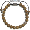 Meditation Self-Care Wellness Mantra Yoga Bracelets. Mens Wristband Jewelry. Tigerskin Jasper.