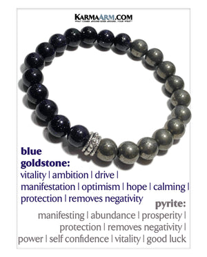 Meditation Self-Care Wellness Yoga Bracelets. Mens Wristband Jewelry