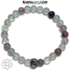 Meditation Self-Care Wellness Yoga Bracelets. Mens Wristband Jewelry. rainbow fluorite.