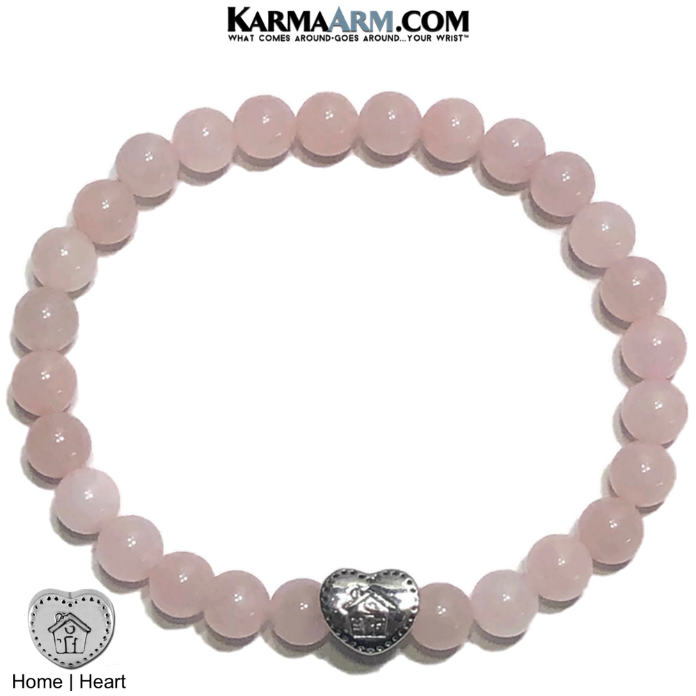 Meditation Self-Care Yoga Bracelet. Wellness Wristband Yoga Jewelry. Rose Quartz.