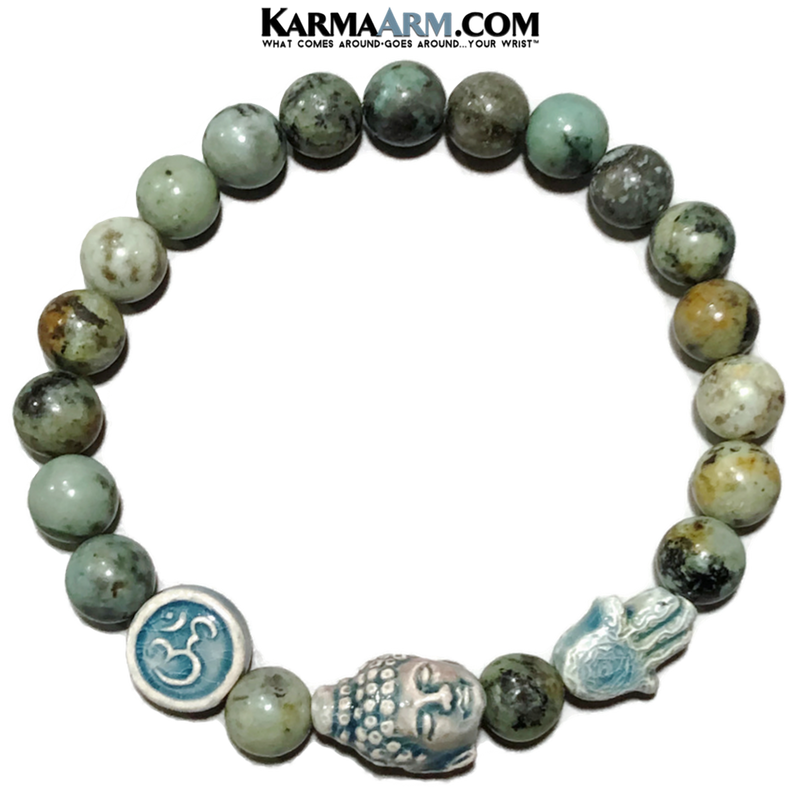 Meditation Yoga Bracelet. Mens Self-Care Wellness Wristband Jewelry.