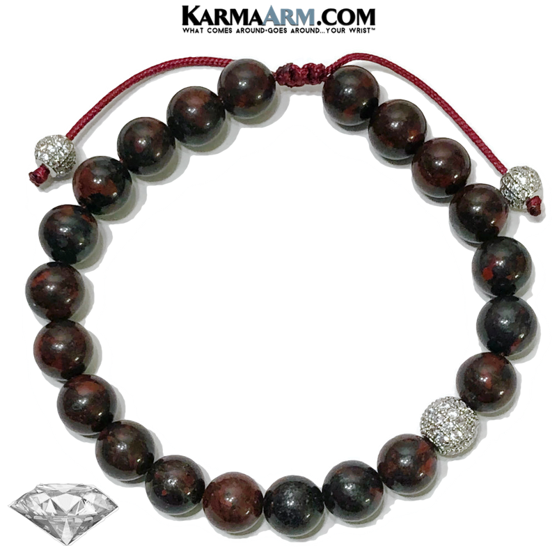 Meditation Yoga bracelets. mens wristband jewelry. Bloodstone.   copy