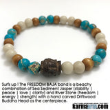 Mens Beaded Yoga Bracelet. Chakra Mala Stretch Jewelry. Energy Healing Meditation.