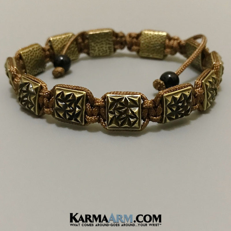 Mens Bracelets. Mens Jewelry. Flat Beads. FlatBeads Bracelets. Antiqued Gold. Bronze.