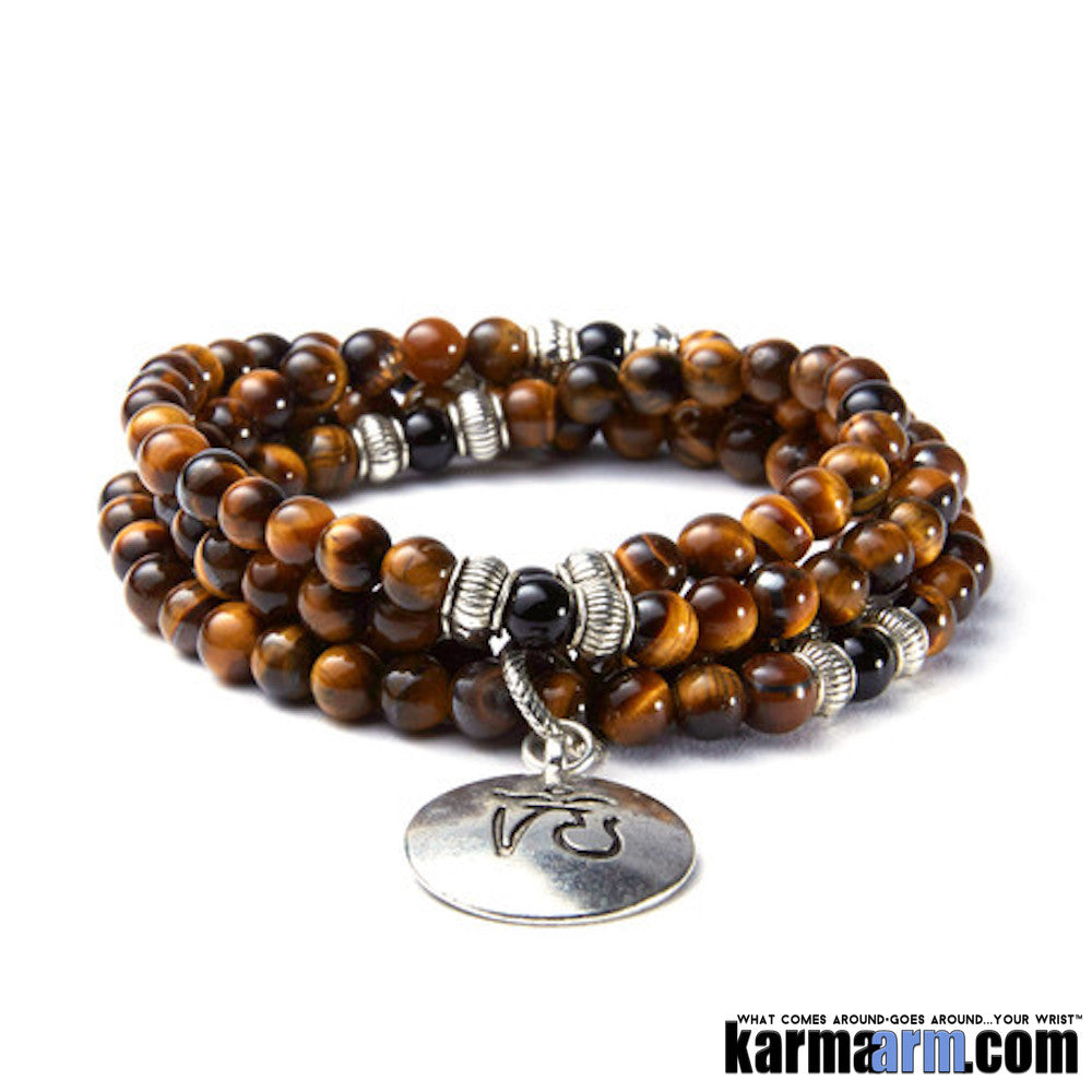 Mens Bracelets. Tiger eye OM.