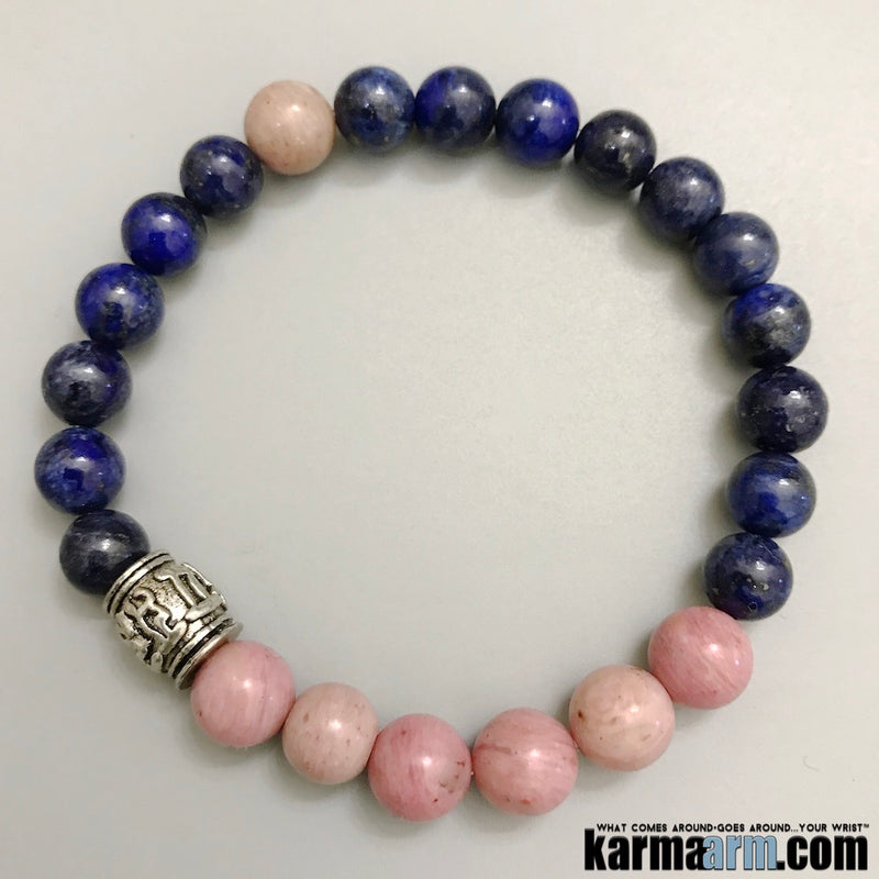 Beaded Yoga Bracelets. Om Mani Padme Hum. Love Gifts Crystal Energy Stretch Chakra Mala. Mens Jewelry.