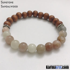Mens Yoga Bracelets. Men's Women's Beaded Handmade Luxury.  Law of Attraction. Energy Healing. Beaded Mala. Tibetan Buddhist. #LOA. OM Mantra. Sunstone Sandalwood.