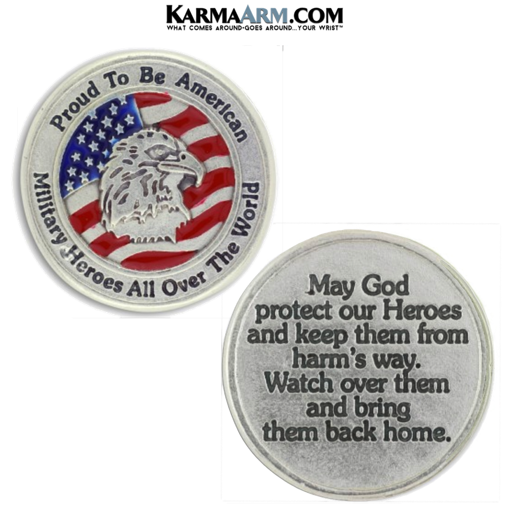 Military Heroes | Proud American PrayerPocket Token. Healing Saints | Prayer Tokens.  Lucky Poker Pocket Tokens.  Inspirational coins. copy 2