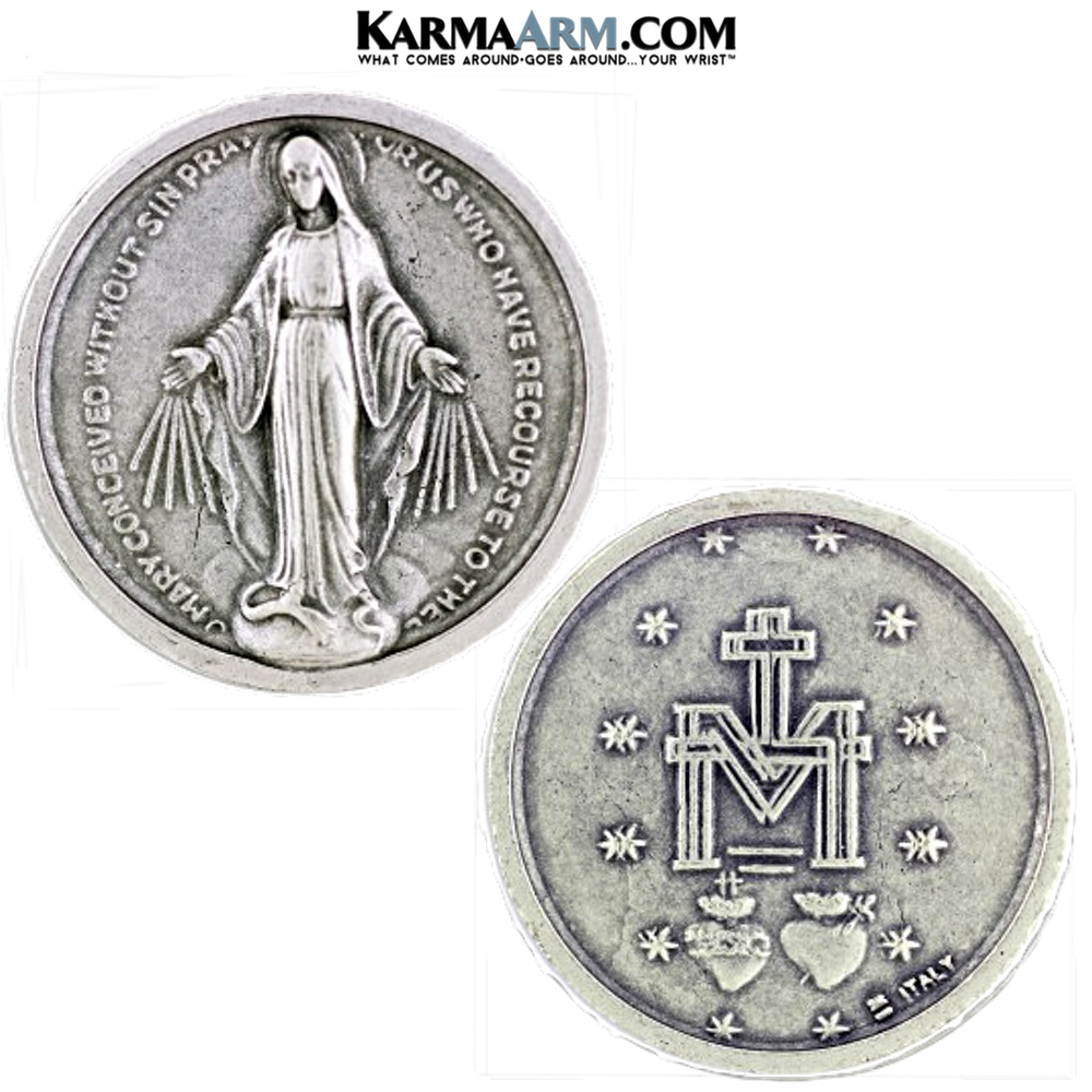 Miraculous Medal Guardian Angel Pocket Token. Healing Saints | Prayer Token.