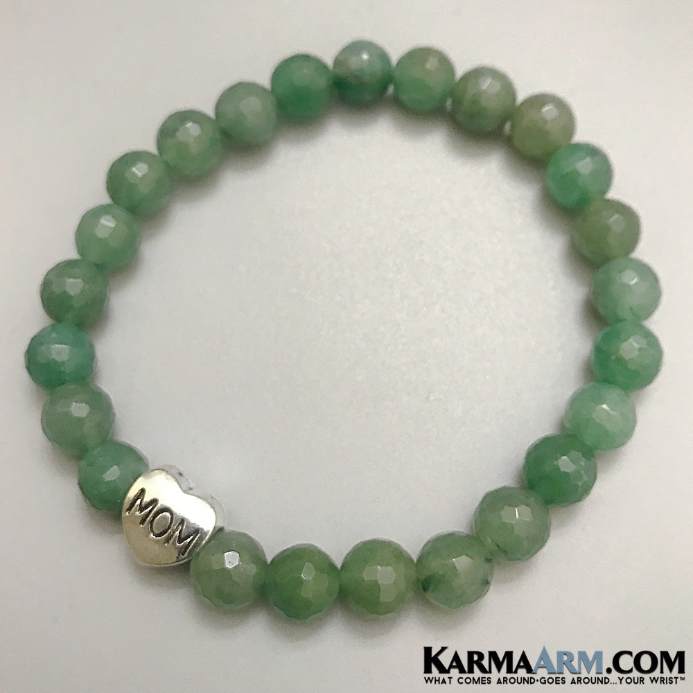 Mothers Day Bracelets. Yoga Bracelets. Meditation Reiki Healing Jewelry. Mens Jewelry. Meditation Chakra Jewelry. Green Quartz.