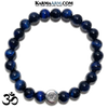 OM Meditation Mantra Yoga Bracelet. Meditation Self-Care Wellness Wristband Zen bead mala Jewelry.  Blue Tiger Eye. copy 3