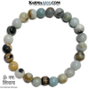 Om Namah Shivaya Meditation Mantra Yoga Bracelets. Mens Wristband Jewelry. Amazonite.