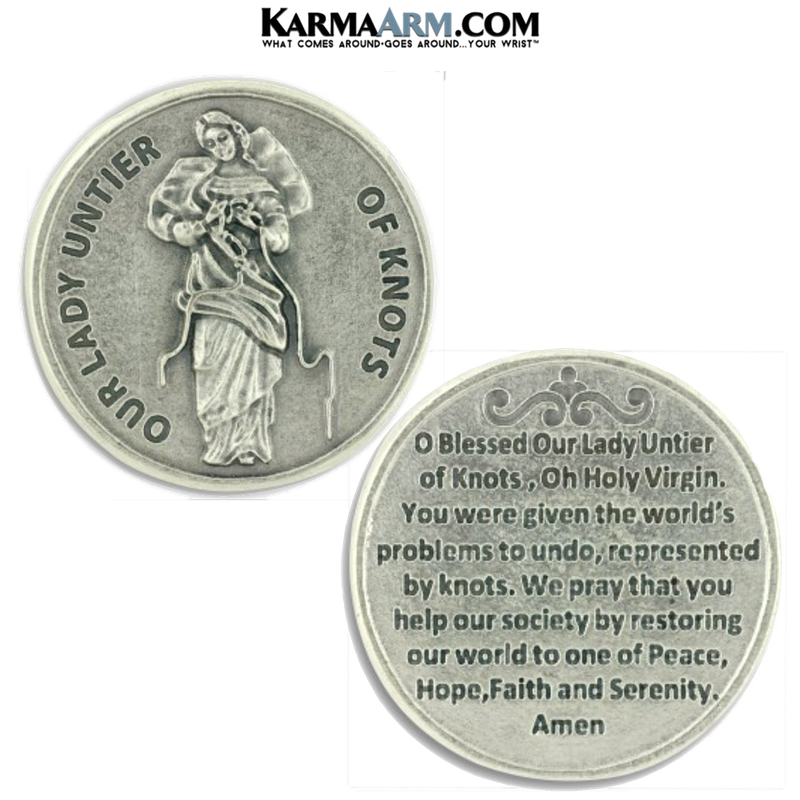 Our Lady, Undoer of Knots Pocket Token. Healing Saints | Prayer Tokens.  Lucky Poker Pocket Tokens.  Inspirational coins.