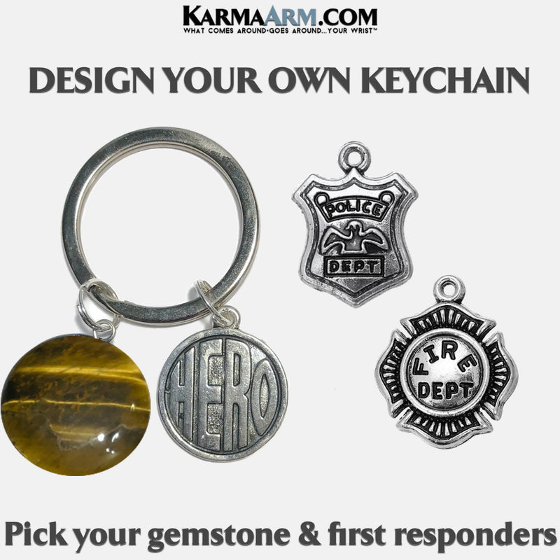 Police Fireman Firemen Hero Meditation Mindfulness Keychain Gifts Key Rings. copy 5