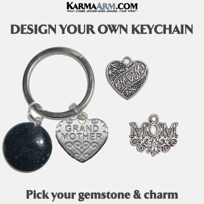 Mom Grandmother Meditation Mindfulness Keychain Gifts Key Rings.