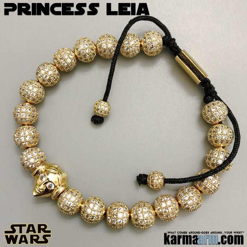 Princess Leia Bracelets. Star Wars Jewelry. The Last Jedi Bracelet. Comic-Con. Pave Gold.