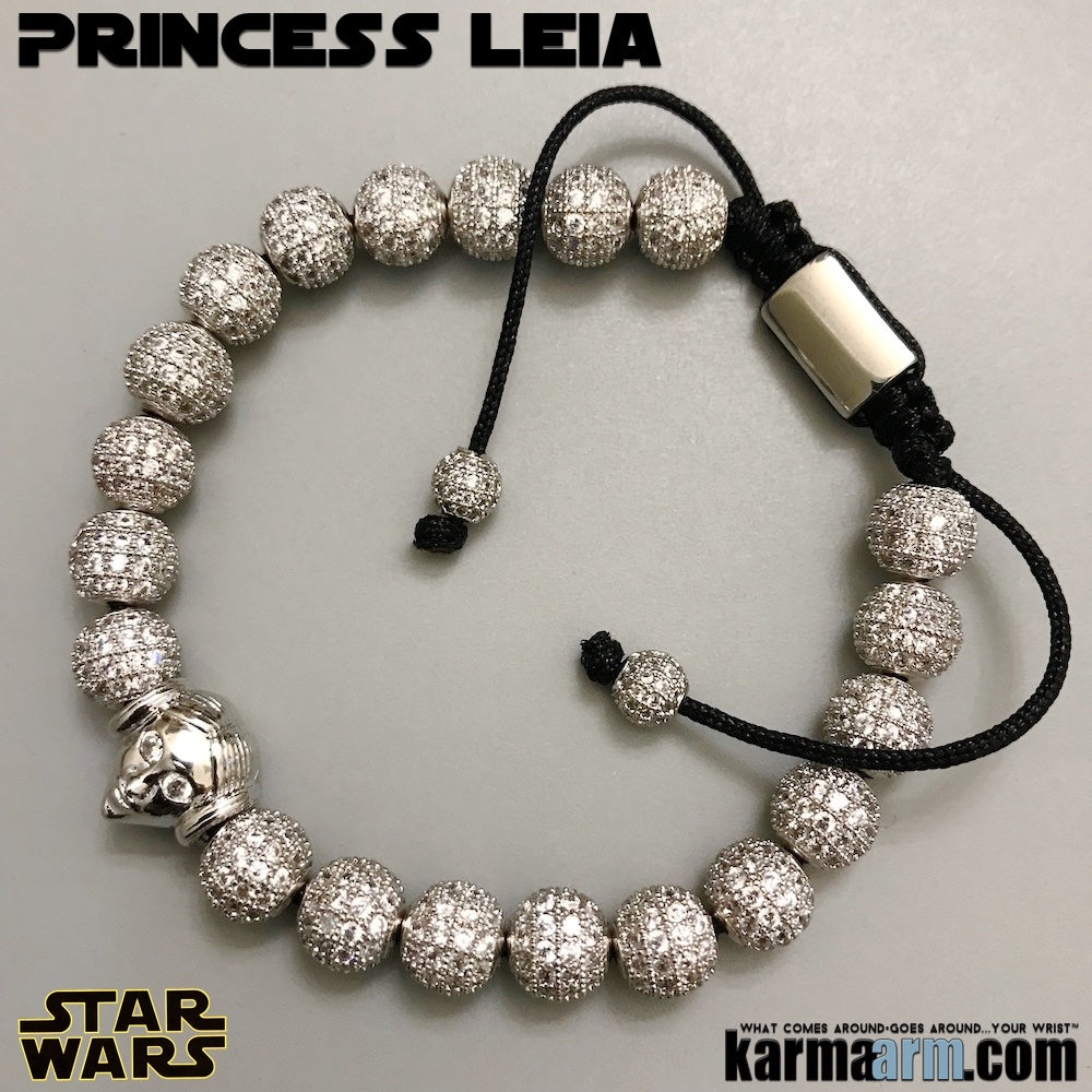 Princess Leia Bracelets. Star Wars Jewelry. Comic-Con. The Last Jedi Bracelet. Pave Silver.