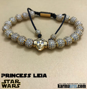 Princess Leia Bracelets. Star Wars Jewelry. Rise of skywalkeri Bracelet. Comic-Con. Girl Power.