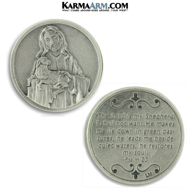 Psalm 23 Pocket Token. Healing Saints | Prayer Tokens.  Lucky Poker Pocket Tokens.  Inspirational coins. copy