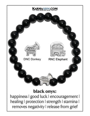 Political Party bracelet. RNC Elephant DNC Donkey Republican Democratic .