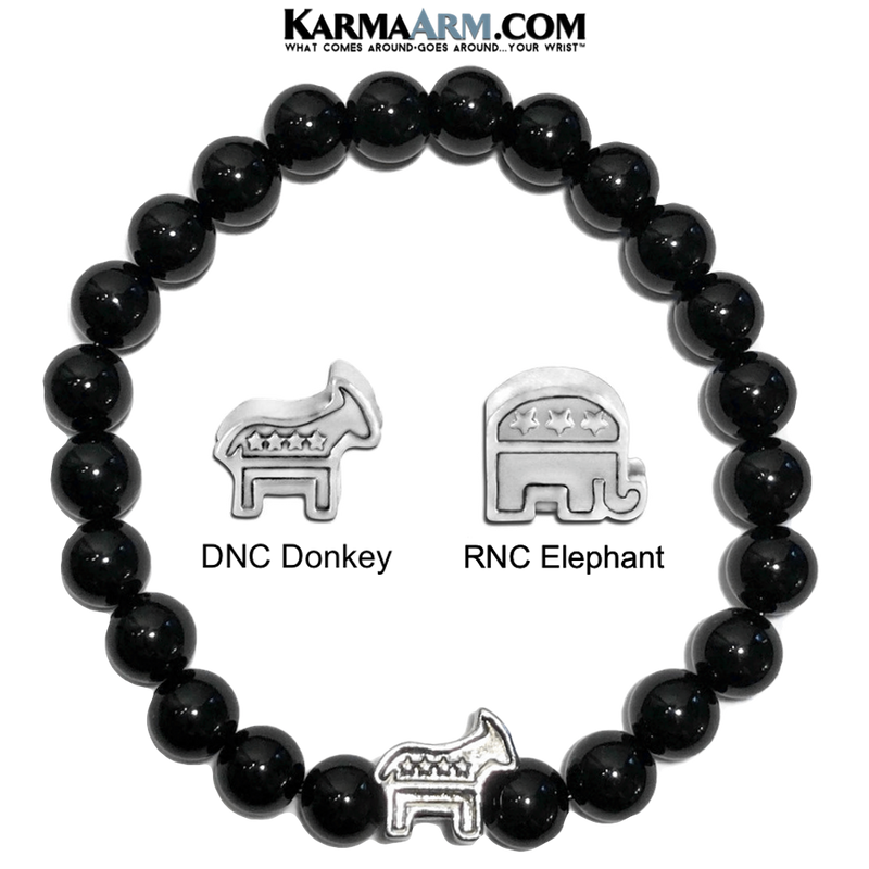 RNC Elephant DNC Donkey Republican Democratic Political Party bracelet.