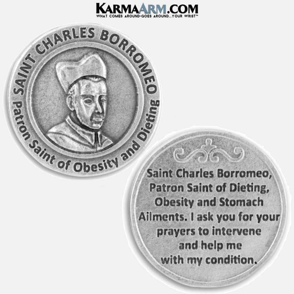 Saint Charles Borromeo | Patron Saint of Obesity and Dieting Miracle Medal Pocket Token. Healing Saints | Prayer Tokens.  Lucky Poker Pocket Tokens.  Inspirational coins. copy