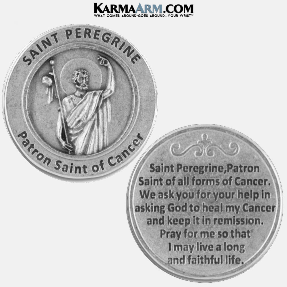 Saint Peregrine | Patron Saint of Cancer | Miracle Medal Pocket Token. Healing Saints | Prayer Tokens.  Lucky Poker Pocket Tokens.  Inspirational coins.