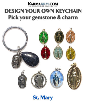 Saint St. Mary Virgin Mother Meditation Mindfulness Keychain Gifts Key Rings.