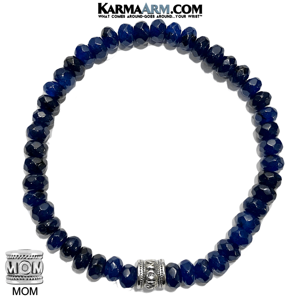 Sapphire Yoga Bracelets. mothers day mom self-care wellness meditation wristband jewelry.