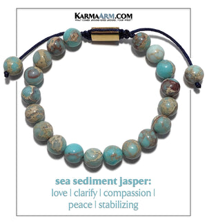 Self-Care Wellness Meditation Mantra Yoga Bracelet Wristband Sodalite. copy