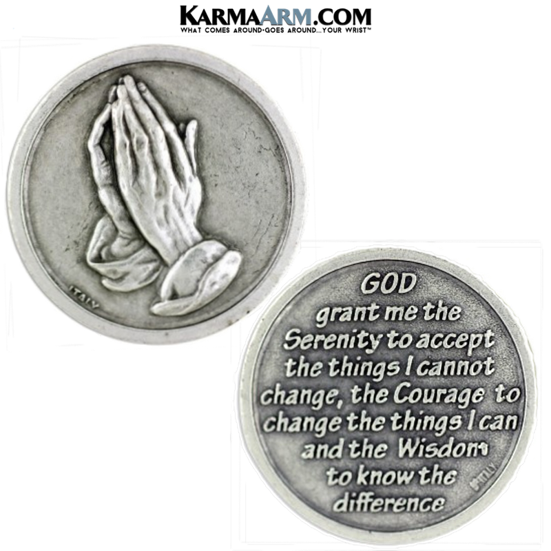 Serenity Pray Addiction Pocket Token. Healing Saints | Prayer Tokens.